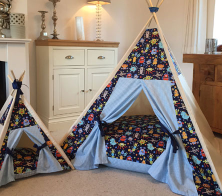 boys teepees by samuel and rigby