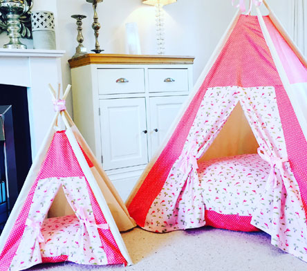 girls teepees by samuel and rigby