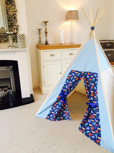 boys teepee by samuel and rigby