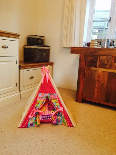 cat teepee by samuel and rigby