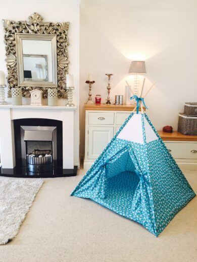 sale unisex turquoise teepee tent by Samuel & Rigby