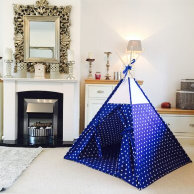 blue star boys teepee tent by Samuel And Rigby